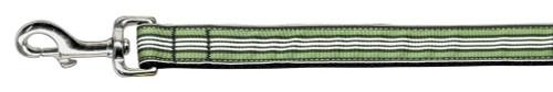 Preppy Stripes Nylon Ribbon Collars Green/white 1 Wide 6ft Lsh
