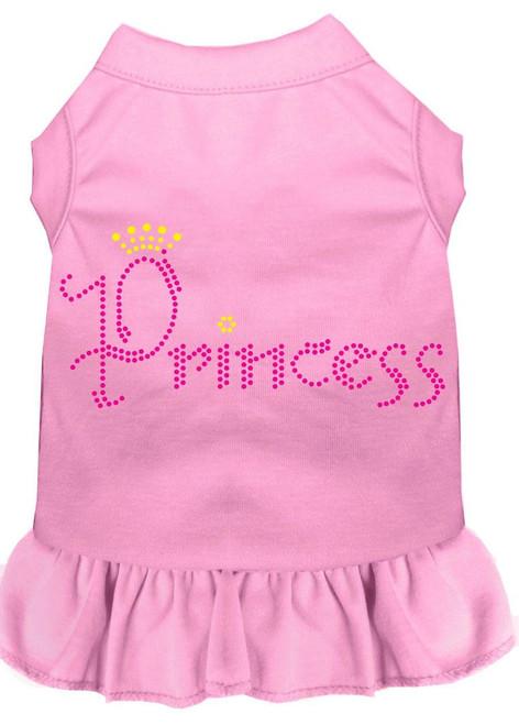 Princess Rhinestone Dress Light Pink Sm (10)