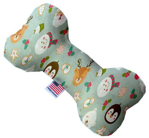 Gray Christmas Party 10 Inch Bone Dog Toy