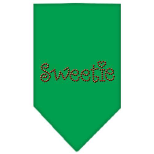 Sweetie Rhinestone Bandana Emerald Green Large