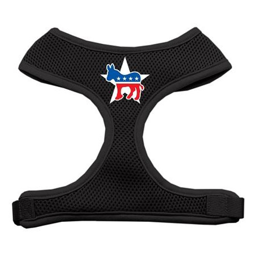 Democrat Screen Print Soft Mesh Harness Black Extra Large