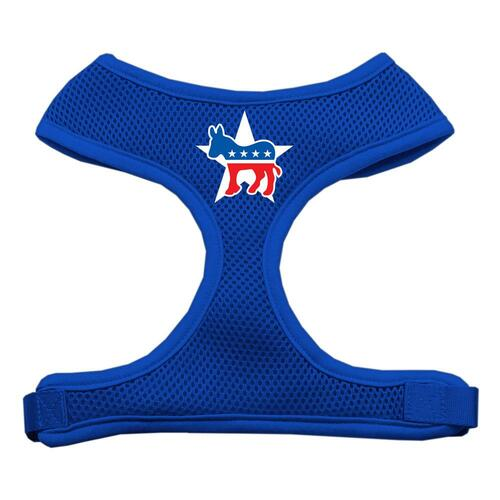 Democrat Screen Print Soft Mesh Harness Blue Extra Large