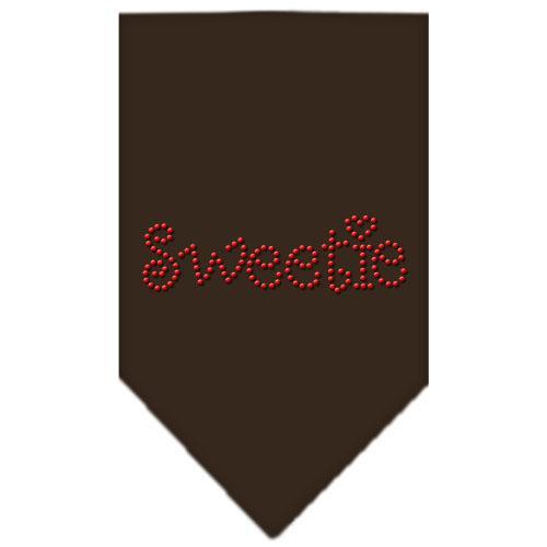 Sweetie Rhinestone Bandana Cocoa Large