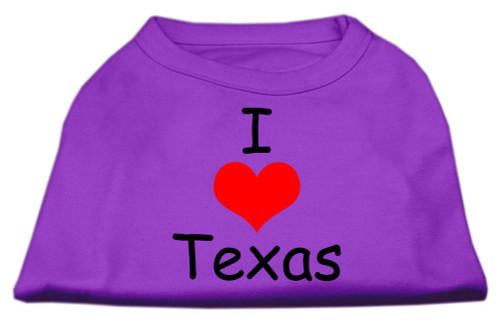 I Love Texas Screen Print Shirts Purple Xl (16) - 51-38 XLPR