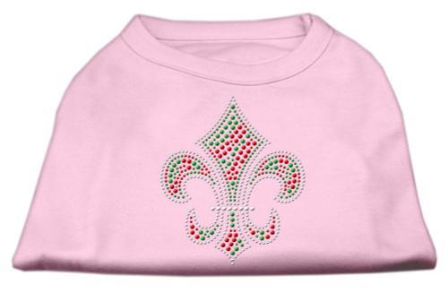 Holiday Fleur De Lis Rhinestone Shirts Light Pink Xl (16)
