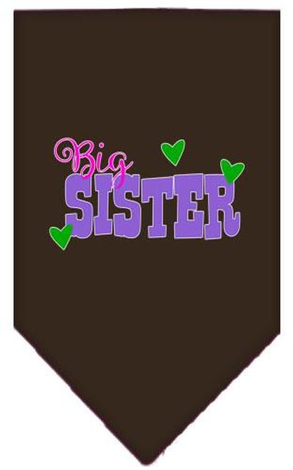 Big Sister Screen Print Bandana Cocoa Small