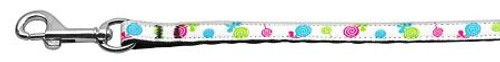 Lollipops Nylon Ribbon Leash White 3/8 Inch Wide 4ft Long