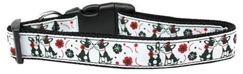 French Love Nylon Dog Collar Large