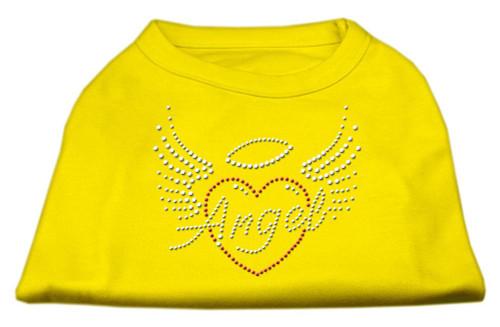 Angel Heart Rhinestone Dog Shirt Yellow Xxxl (20)