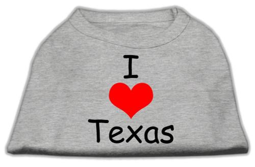 I Love Texas Screen Print Shirts Grey Xl (16) - 51-38 XLGY
