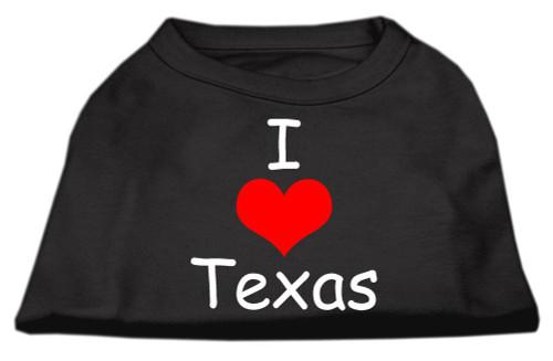 I Love Texas Screen Print Shirts Black  Xl (16) - 51-38 XLBK