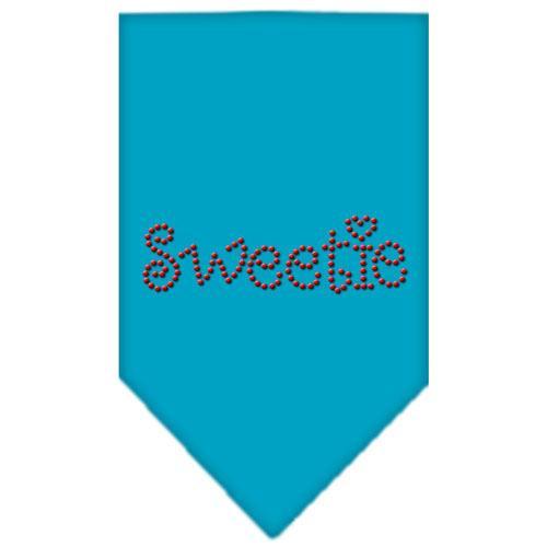 Sweetie Rhinestone Bandana Turquoise Large