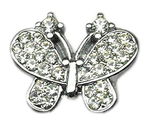 """3/8"""" Slider Butterfly Charm Clear 3/8"""" - 10-20 38CL"""