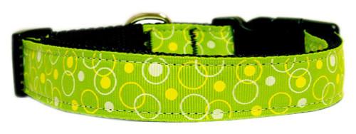 Retro Nylon Ribbon Collar Lime Green Sm - 125-003 SMLG