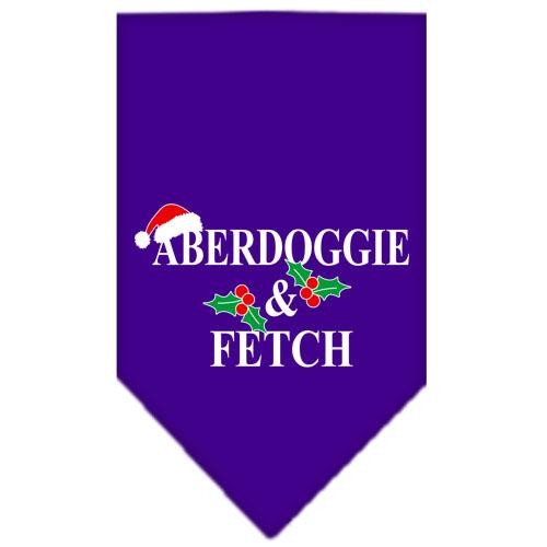 Aberdoggie Christmas Screen Print Bandana Purple Large