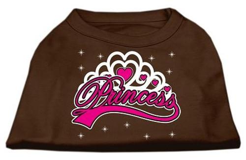 I'm A Princess Screen Print Shirts Brown Lg (14)