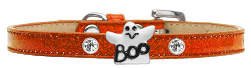 Ghost Charm Dog Collar Orange Ice Cream Size 8