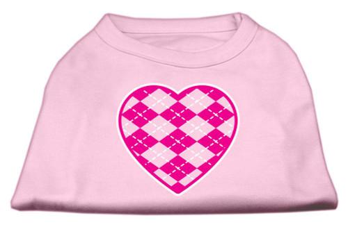 Argyle Heart Pink Screen Print Shirt Light Pink Sm (10)