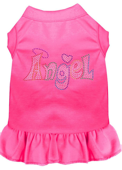 Technicolor Angel Rhinestone Pet Dress Bright Pink Xl (16)
