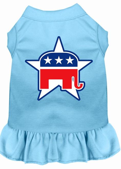 Republican Screen Print Dress Baby Blue Xxxl (20)