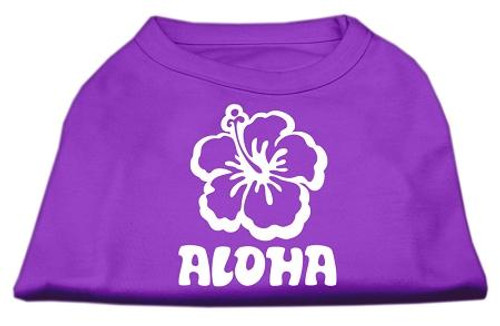 Aloha Flower Screen Print Shirt Purple Med (12)
