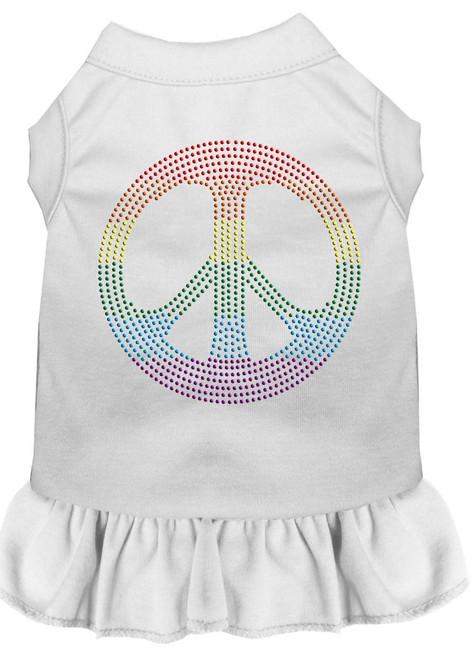 Rhinestone Rainbow Peace Dress White 4x (22)
