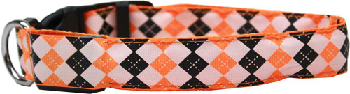 Led Dog Collar Argyle Orange Size Xl