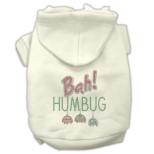 Bah Humbug Rhinestone Hoodies Cream L (14)