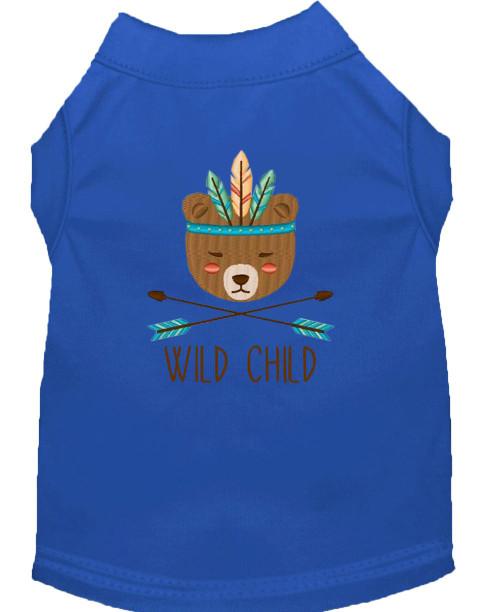 Wild Child Embroidered Dog Shirt Blue Xxxl (20)
