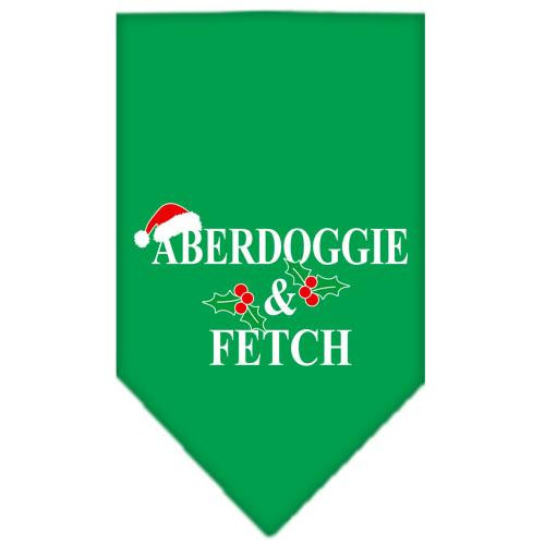 Aberdoggie Christmas Screen Print Bandana Emerald Green Large