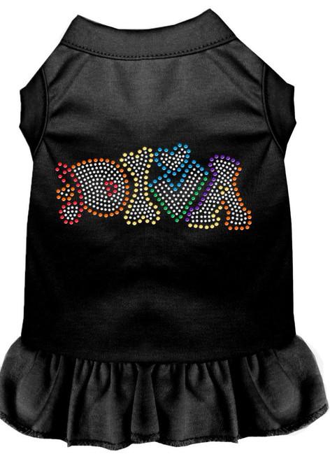 Technicolor Diva Rhinestone Pet Dress Black Xxl (18)