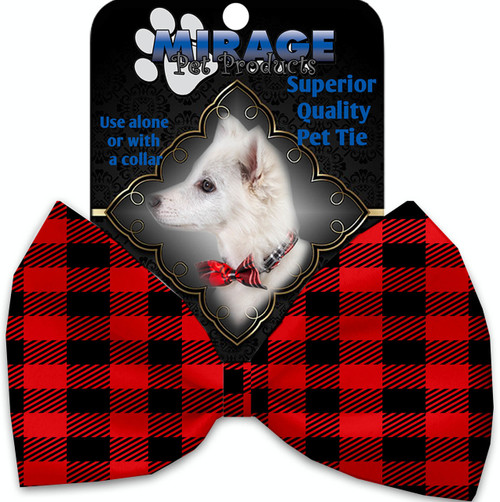 Red Buffalo Check Pet Bow Tie