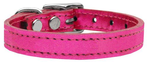 Plain Metallic Leather Metallic Pink 22