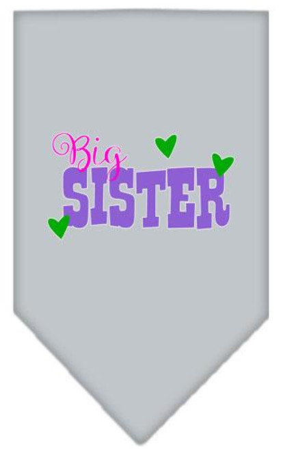 Big Sister Screen Print Bandana Grey Small