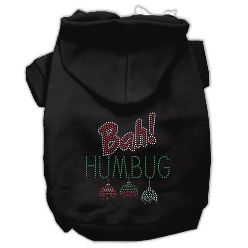 Bah Humbug Rhinestone Hoodies Black L (14)