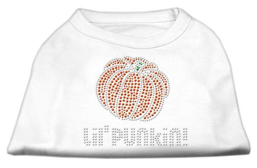Lil' Punkin' Rhinestone Shirts White Xs (8)