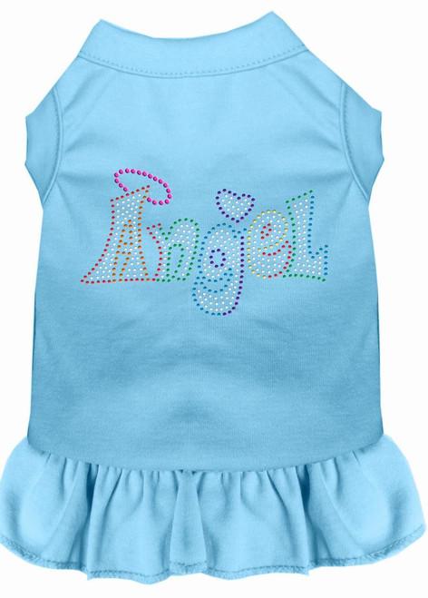 Technicolor Angel Rhinestone Pet Dress Baby Blue Sm (10)
