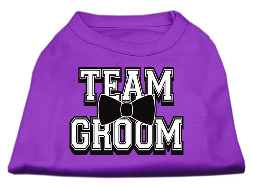 Team Groom Screen Print Shirt Purple Xxl (18)
