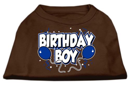 Birthday Boy Screen Print Shirts Brown Med (12)