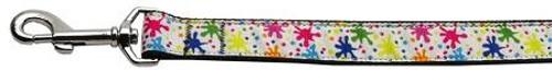 Splatter Paint Nylon Ribbon Collars 1 Wide 6ft Leash