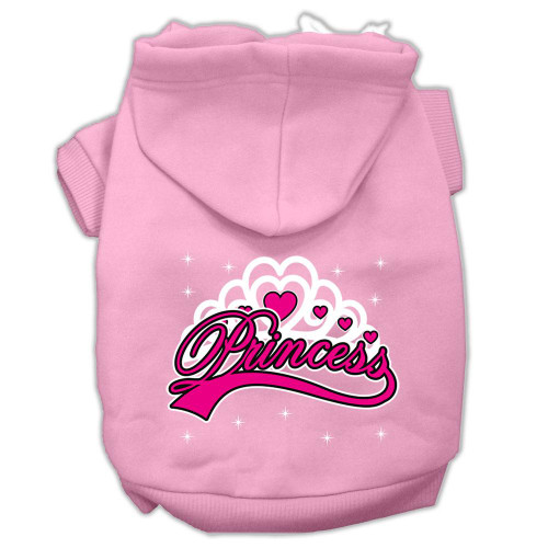 I'm A Princess Screen Print Pet Hoodies Light Pink Size Sm (10)