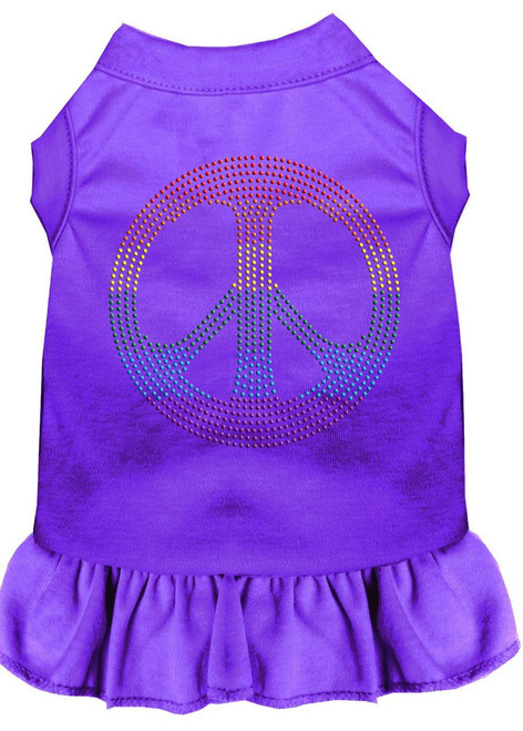 Rhinestone Rainbow Peace Dress Purple 4x (22)