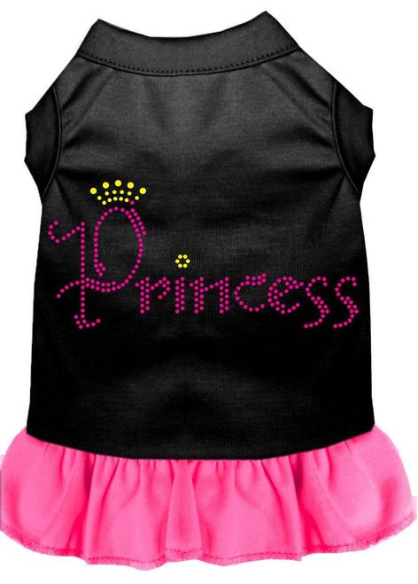Princess Rhinestone Dress Black With Bright Pink Lg (14)