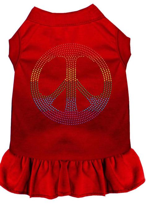 Rhinestone Rainbow Peace Dress Red 4x (22)