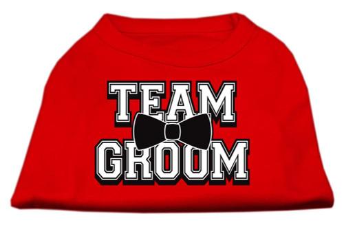 Team Groom Screen Print Shirt Red Xxl (18)