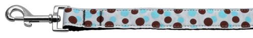 Confetti Dots Nylon Collar Baby Blue 1 Wide 6ft Lsh - 125-012 1006BBL