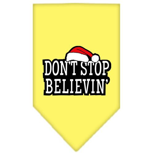 Dont Stop Believin Screen Print Bandana Yellow Large