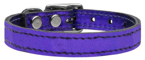 Plain Metallic Leather Metallic Purple 22