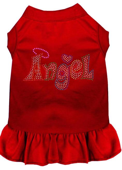 Technicolor Angel Rhinestone Pet Dress Red Med (12)