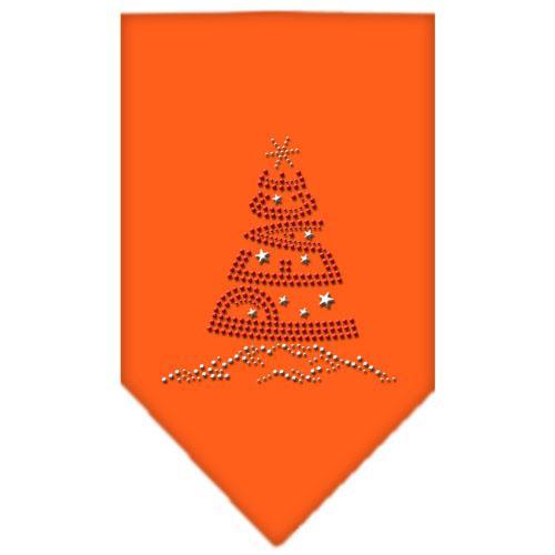 Peace Tree Rhinestone Bandana Orange Large